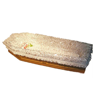 Funeral satin coffin interiros casket lining and coffin liner
