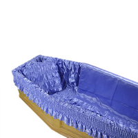 funeral satin coffin lining and coffin liner